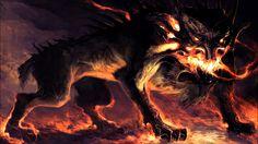 """São os tipicos """"animais de estimação"""" dos demonios,geralmente um humano pode ver ele quando está prestes a ir para o inferno.O trabalho de um cão do inferno é geralmente buscar uma pessoa que selou um pacto com qualquer demônio.O mais famoso cão do inferno é cerberus,que protege a porta do inferno,segundo a mitologia grega.Acredita-se em algumas religiões que cerb.erus poderia ser o cão do Lúcifer"""