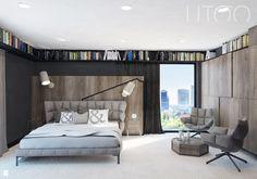 Rozwiązanie dla książek - Sypialnia styl Nowoczesny - zdjęcie od UTOO- pracownia architektury wnętrz i krajobrazu - Sypialnia - Styl Nowoczesny - UTOO- pracownia architektury wnętrz i krajobrazu
