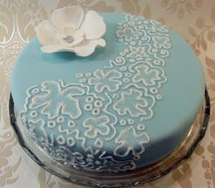 Brush embroidery cake -oooh love this!!!