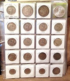 coin binder - old American & foreign coins