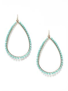 turquoise wrapped hoops @Stephanie Phan