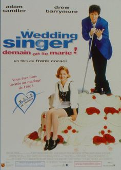 The Wedding Singer , starring Adam Sandler, Drew Barrymore, Christine Taylor, Allen Covert. Robbie, the singer and Julia, the waitress are both engaged to be married but to the wrong people. Fortune intervenes to help them discover each other. #Comedy #Romance
