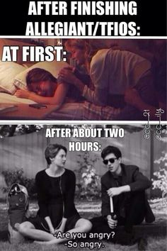 fo real doe! I haven't read the whole divergent series before but I have read tfios