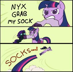 NYX GRAB MY SOCK by ~Dreatos on deviantART