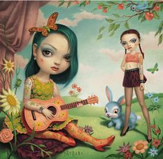 """Just the Girls"" by Mark Ryden (his work is odd yet wonderfully amazing, visit www.markryden.com)"