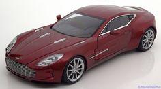 Strassen-Fahrzeuge Auto Art 1:18 Aston Martin One-77   2009 rotmetallic  www.modelissimo.de