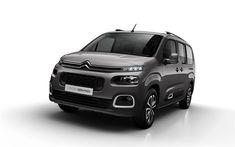 Download wallpapers 4k, Citroen Berlingo Multispace, 2018 cars, compact vans, studio, new Berlingo, Citroen