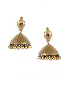 Golden Terracotta Jhumka Earrings