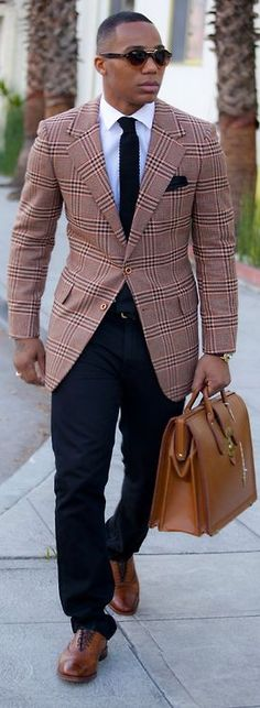 Plaid works best if the rest of the outfit is understated.