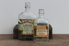 Vintage Medical Bottles with labels  Free shipping by vintagewall, $32.00