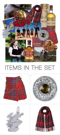 """Scottish Burns Night"" by alexxa-b ❤ liked on Polyvore featuring art, BurnsNight, tartankilt, bagpipes and haggisneepsandtatties"