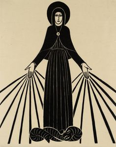 Eric Gill, 'Our Lady of Lourdes' 1920