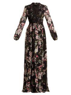 Giambattista Valli Lily Of The Valley-print silk-georgette gown