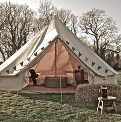 Go for a Magical Camping experience in Norfolk and rent out a luxury bell tent or a tipi for some quiet time. www.redonline.co.uk