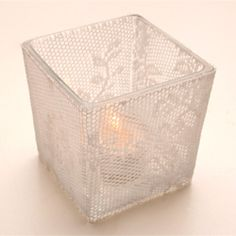 we can make lace candles... for wedding something