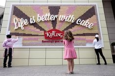 World's First Giant Billboard Made Entirely Out Of Cake - DesignTAXI.com