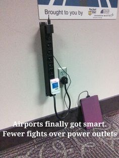 Airports finally got smart. Fewer fights over power outlets