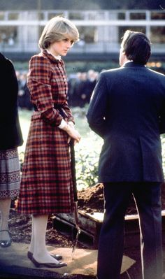 November 19, 1981: Princess Diana plants a tree in Hyde Park after lunch at the Royal Yacht Club.