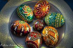 A Bowl of Pysanky Ukrainian Art form Pysanka eggs