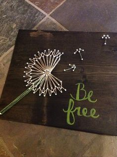 Be+Free+Danelion+String+Art+by+GrizzlyandCo+on+Etsy,+$25.00