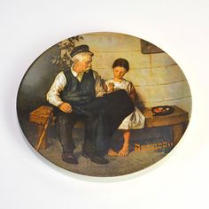 #Vintage #Norman #Rockwell #Lighthouse Keeper's Daughter - #Collector's Edition #Painting #Plate, Certified and Numbered by OneRustyNail on #Etsy