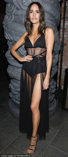 Show stopping: Brits Louise Roe (l) and Leona Lewis (r)  attended The Weinstein Company's Academy Awards viewing and after party in partnership with Grey Goose at TAO Los Angeles at TAO Hollywood on Sunday