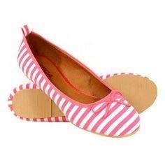White Pink Flats...