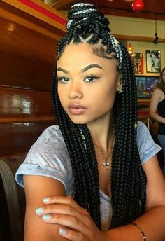 Natural hair glory. - Add some color to your braids Follow for more...