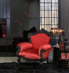 Gothic cottage | Boudoir Victorian Gothic style bedroom decorating ideas - Gothic chic ...