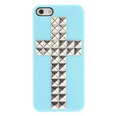 Специальный дизайн Серебряный Крест Заклепки Pattern Жесткий чехол с ногтей Клей для iPhone 5/5S (разных цветов) – RUB p. 107,34