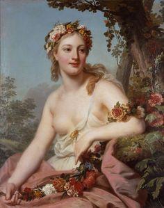 Alexander Roslin (Swedish; 1718–1793)La Flore de l'Opéra = Flora of the Opera1755Oil on canvas Musée des Beaux-Arts, Bordeaux, France   © Musée des Beaux-Arts – Mairie de Bordeaux   photo: L. Gauthier