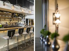 The Elm Restaurant at King & Grove Hotel in Brooklyn designed by firm Parts and Labor Design does it again with an incredible mix of materials and their Concrete Bar, New York Food, Subway Tile, Brooklyn, Restaurant, King, Interiors, Interior Design, Cool Stuff