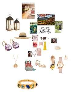"""Girls' Trip: Wine Tasting"" by annali1983 ❤ liked on Polyvore featuring Giambattista Valli, RED Valentino, Charlotte Tilbury, Chloé, Picnic Time, Balmain, Napa Home & Garden, Michael Kors, Manolo Blahnik and Gucci"