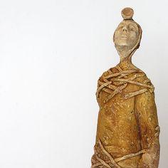 Astronomer Ceramic Sculpture Unique Ceramic Figurine by arekszwed