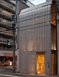 Image 1 of 25 from gallery of Rooftecture / Shuhei Endo. Photograph by Stirling Elmendorf Stirling, Osaka, Facade Design, House Design, Quonset Hut Homes, Facade Pattern, Green Facade, Shell, Japanese Modern