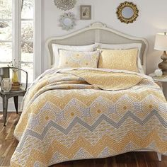 KD Spain  Sunnyside 3-piece Cotton Quilt Set | Overstock.com Shopping - The Best Deals on Quilts