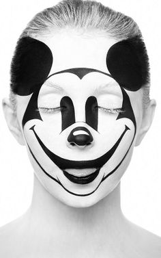 Alexander Khokhlov is a Russian photographer who loves to use the human face as his canvas for creating graphic, black and white face painting with makeup. From the WiFi icon to the pop icon Mickey. Face Photography, White Photography, Fashion Photography, Shadow Photography, Photography Series, Photography Marketing, Creative Photography, Body Painting, Alexander Khokhlov