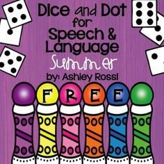 Free! Articulation K and G for summer speech therapy!This download has 6 usable pages (initial/medial/final of both sounds).This is a sample of the articulation pages on the full version of Summer Dice and Dot If you like my best selling Dice and Dot for Speech and Language, you will love this!All black and white for easy, no fuss prep and printing - directions on every page!