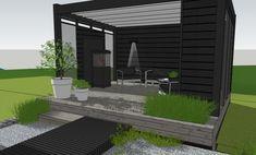 Pergola Ideas For Small Backyards Outdoor Rooms, Outdoor Gardens, Outdoor Living, Outdoor Decor, Outside Room, Outside Living, Pergola Patio, Backyard Landscaping, Patio Design