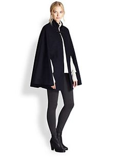 Joie - Elizabetta Rabbit Fur-Trimmed Cape