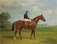 Jockey sur un cheval by Emil Adam