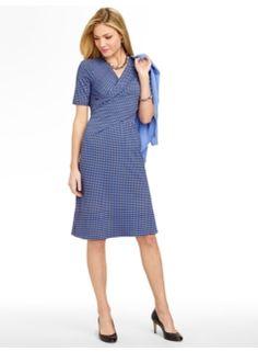 Cube-Print Knit Dress
