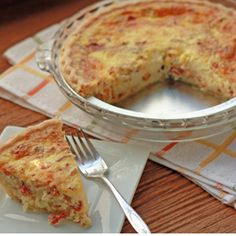 #Quiche Lorraine with #Bacon looks really good and easy!!! Add onions tho