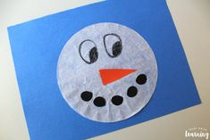 Simple Coffee Filter Snowman Craft for Kids to Make! is part of Kids Crafts Easy Coffee Filters - Make this cute coffee filter snowman craft with the kids on a winter afternoon! Coffee Filter Crafts, Coffee Crafts, Coffee Filters, Snowman Party, Snowman Crafts, Crafts For Kids To Make, Christmas Crafts For Kids, Christmas Holiday, Kids Crafts