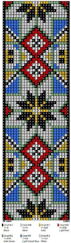 bringeklut 143 C belte Bead Loom Patterns, Peyote Patterns, Weaving Patterns, Jewelry Patterns, Native Beadwork, Bead Loom Bracelets, Beaded Cross Stitch, Tear, Tapestry Crochet