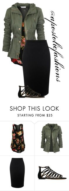 """Apostolic Fashions #1307"" by apostolicfashions on Polyvore featuring Alexander McQueen and Jimmy Choo The coat & top, the rest... not so much."