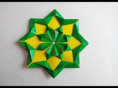Красивый цветок оригами, Beautiful flower origami. - YouTube