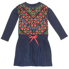 This Mim Pi Navy Floral A-Line Dress - Toddler & Girls by Mim Pi is perfect! Fashion Kids, Girl Fashion, Blue Long Sleeve Dress, Kids Girls, Toddler Girls, Girl Falling, Toddler Girl Dresses, Dress P, Blue Dresses