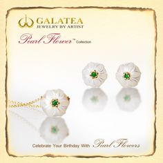 We have received some new pieces from the Galatea Pearl Flower collection. Come in and see! Hypnotize Me, Birth Month Flowers, Pearl Flower, Months In A Year, It's Your Birthday, Birthstones, Hand Carved, Carving, Place Card Holders
