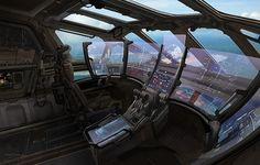 Spaceship view screens.  Control room.  #spaceship  #starship